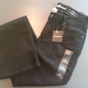 NWT Women's Eddie Bauer Black Jeans Size 8